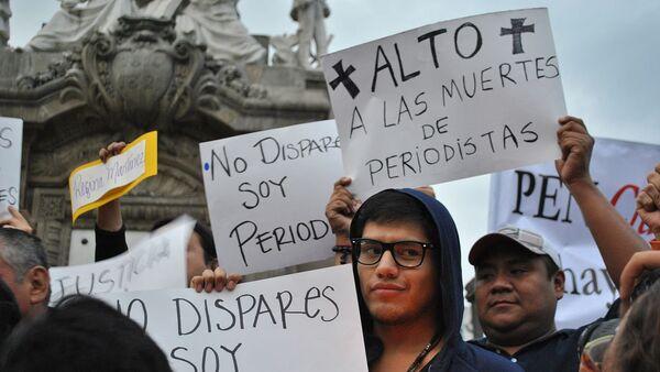 Protesta contra la muerte de periodistas en México - Sputnik Mundo