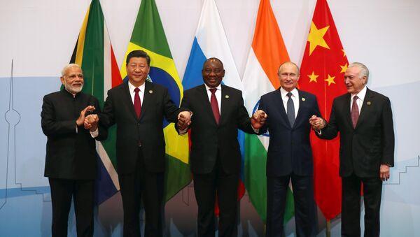 Presidentes de los países del grupo BRICS en Sudáfrica - Sputnik Mundo