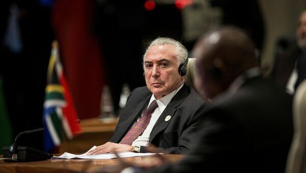 El presidente de Brasil, Michel Temer, en la cumbre de los BRICS - Sputnik Mundo