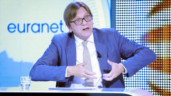 Guy Verhofstadt, líder del Partido de la Alianza de los Liberales y Demócratas por Europa - Sputnik Mundo