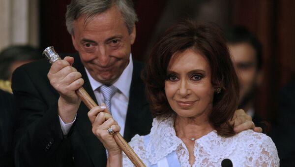 Néstor y Cristina Kirchner, foto de archivo - Sputnik Mundo