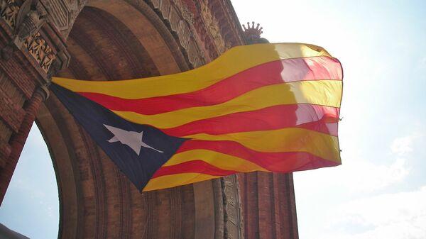 Estelada, la bandera independentista de Cataluña (imagen referencial) - Sputnik Mundo