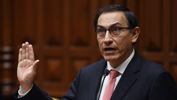 Martín Vizcarra, presidente de Perú - Sputnik Mundo