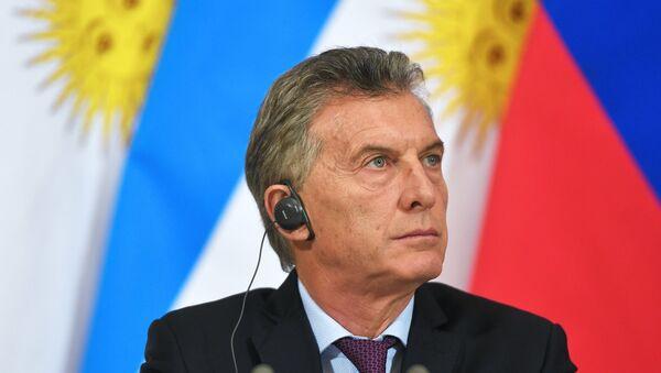 El presidente de Argentina, Mauricio Macri - Sputnik Mundo