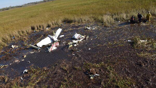 Restos del avión accidentado en el que viajaba el ministro de Agricultura de Paraguay - Sputnik Mundo