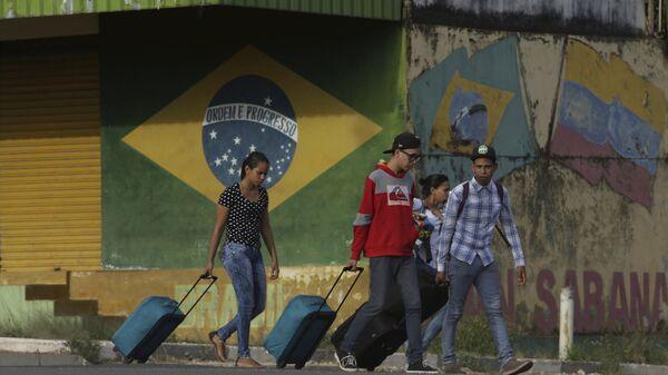 Migrantes venezolanos en el estado de Roraima, Brasil - Sputnik Mundo