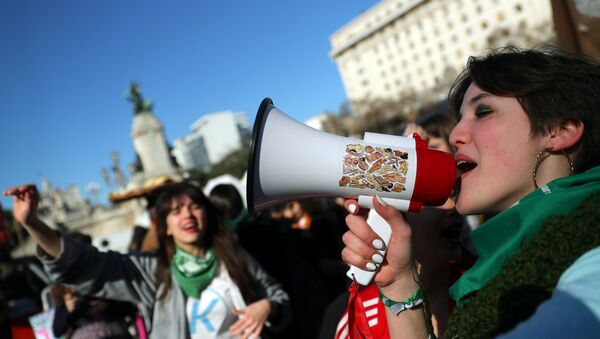 Marcha a favor de la legalización del aborto en Buenos Aires, Argentina - Sputnik Mundo
