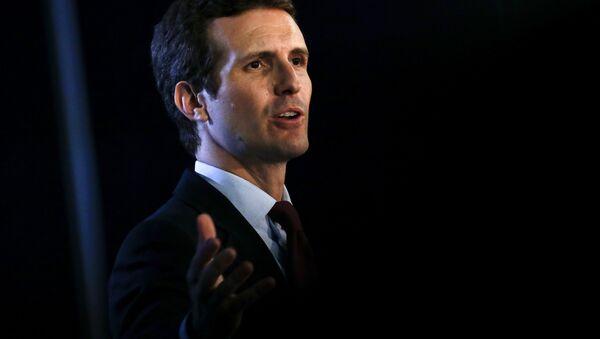 Pablo Casado, el presidente del PP - Sputnik Mundo