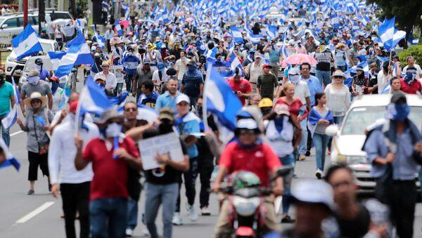 Protestas en Managua, Nicaragua - Sputnik Mundo