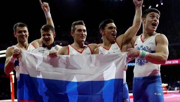 La selección rusa de gimnasia artística - Sputnik Mundo