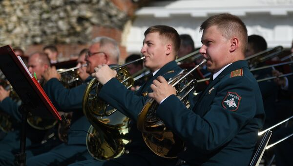 Músicos de la Orquesta Militar Central del Ministerio de Defensa de Rusia (archivo) - Sputnik Mundo