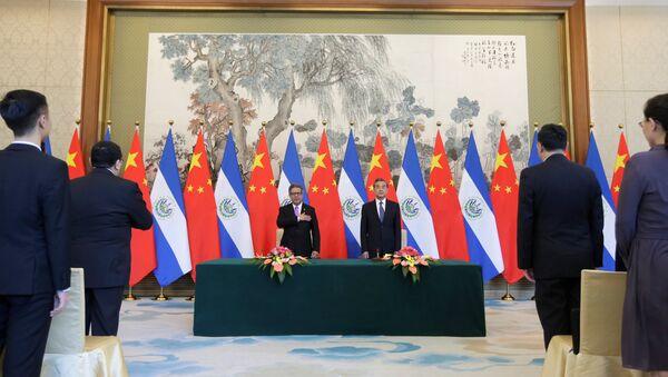 Establecimiento de las relaciones diplomáticas entre China y El Salvador - Sputnik Mundo