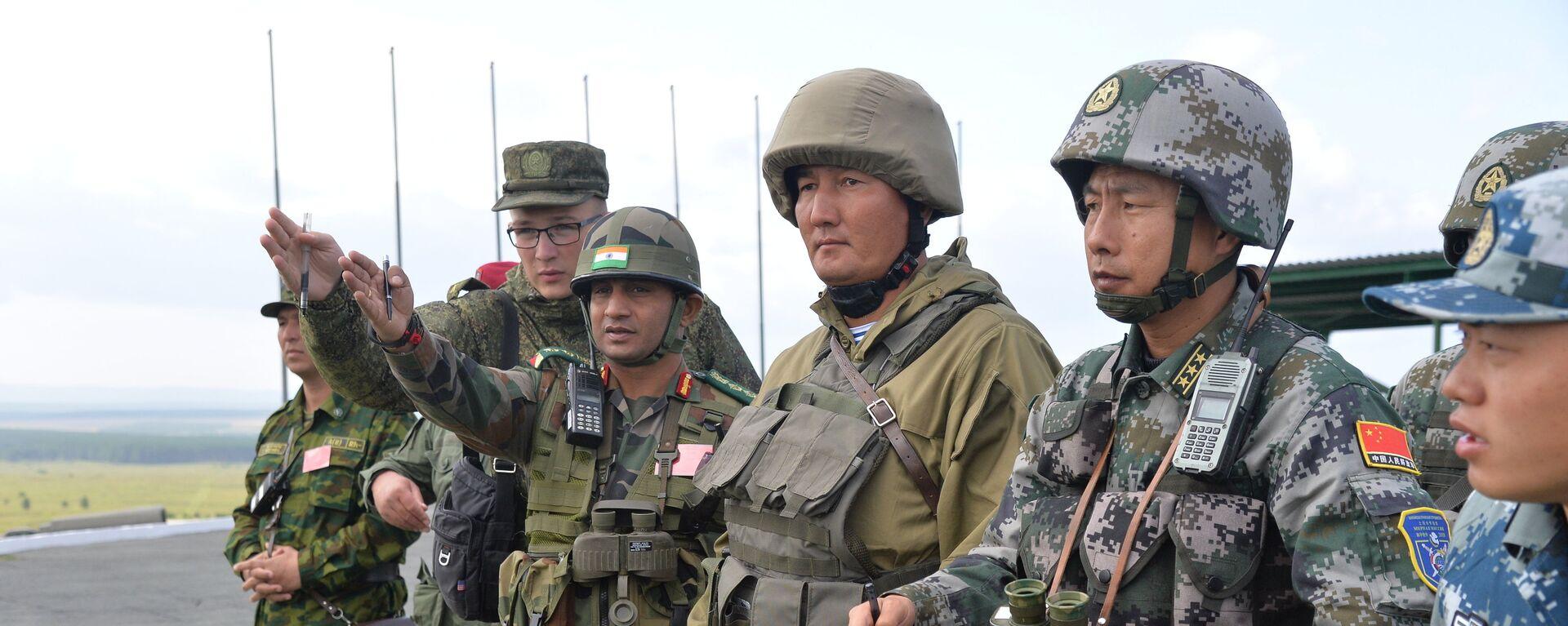 Ejercicios antiterroristas conjuntos de la Organización de Cooperación de Shanghái (OCS) Misión de Paz 2018 - Sputnik Mundo, 1920, 24.09.2021