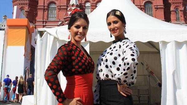 De izquierda a derecha, Marta y Silvia, las dos bailaoras de Córdoba Ecuestre - Sputnik Mundo