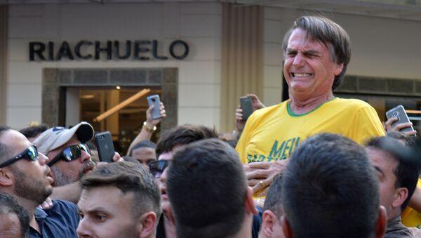 Atentado al candidato brasileño ultraderechista Jair Bolsonaro - Sputnik Mundo
