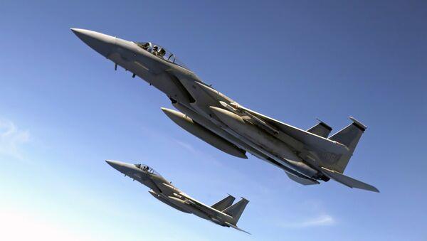Dos aviones F-15 (archivo) - Sputnik Mundo