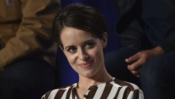 Claire Foy en una conferencia de prensa en Toronto por First Man - Sputnik Mundo