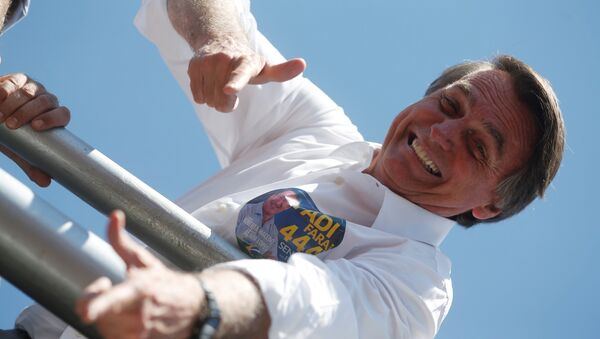 El candidato presidencial brasileño de ultraderecha Jair Bolsonaro - Sputnik Mundo