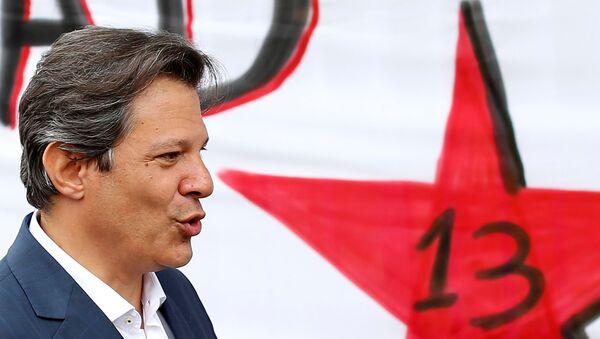 Fernando Haddad, exalcalde de Sao Paulo y candidato a la presidencia de Brasil por el PT - Sputnik Mundo