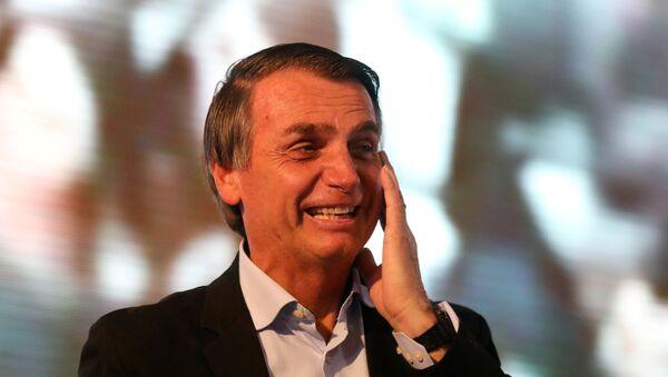 El candidato presidencial brasileño Jair Bolsonaro (archivo) - Sputnik Mundo