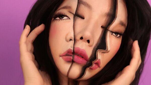 Esta artista surcoreana convierte su cuerpo en una ilusión óptica - Sputnik Mundo