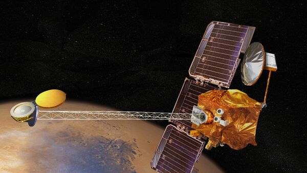 Concepto artístico de la nave espacial Mars Odyssey - Sputnik Mundo