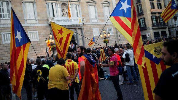 Las banderas independentistas de Cataluña - Sputnik Mundo