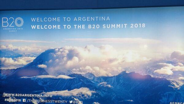 Afiche del Business 20 (B20) en Buenos Aires, Argentina - Sputnik Mundo