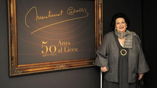 Montserrat Caballé en 2012 - Sputnik Mundo