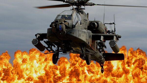 Explosión y un helicóptero - Sputnik Mundo