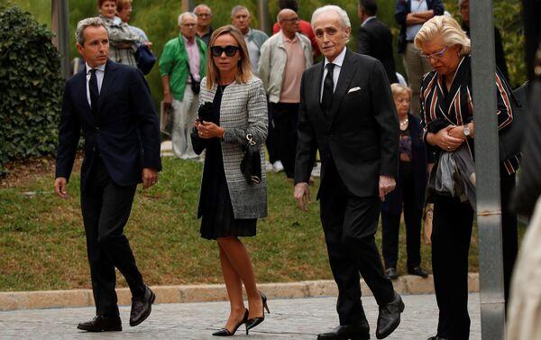 José Carreras, tenor español, asiste el funeral de Montserrat Caballé - Sputnik Mundo
