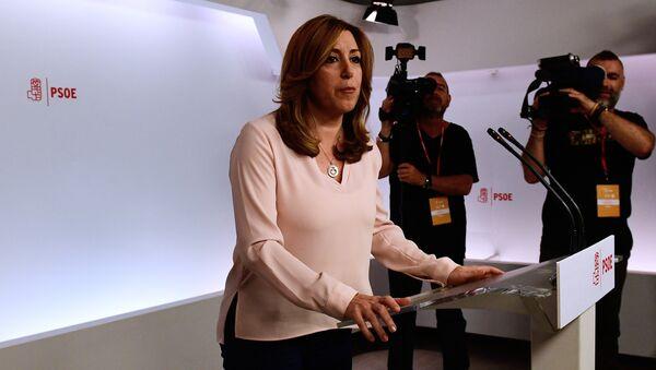 Susana Díaz, la presidenta de la Junta de Andalucía - Sputnik Mundo