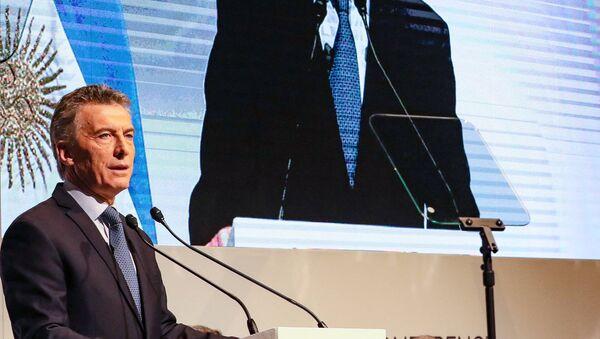 Mauricio Macri, el presidente argentino, durante la apertura del J20 - Sputnik Mundo