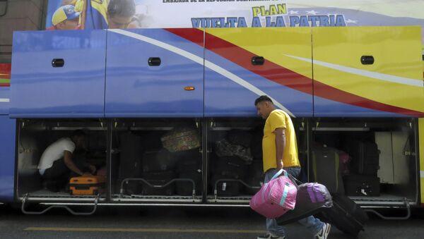 Un migrante venezolano en Santo Domingo, la República Dominicana - Sputnik Mundo