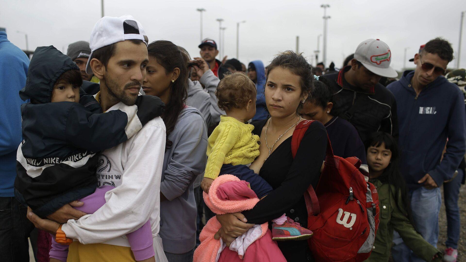 Migrantes venezolanos en Colombia (Archivo) - Sputnik Mundo, 1920, 14.10.2021