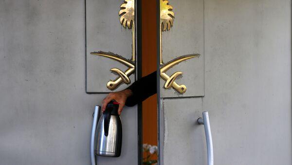 La puerta del Consulado General de Arabia Saudí en Estambul, Turquía (imagen referencial) - Sputnik Mundo