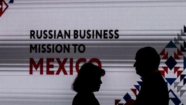 José Carral, presidente del Comité Empresarial México-Rusia al inicio de la Misión Empresarial del Centro Ruso de Exportaciones en México. - Sputnik Mundo