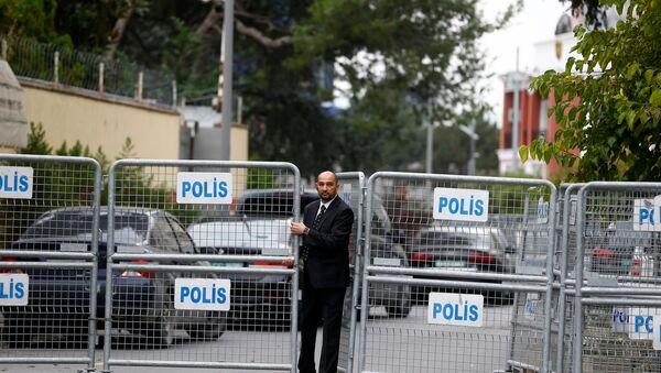 La entrada al Consulado de Arabia Saudí en Turquía - Sputnik Mundo