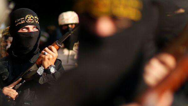 Milicianos del movimiento palestino Yihad Islámica - Sputnik Mundo