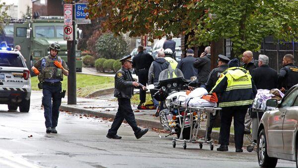 Situación en Pittsburgh tras un tiroteo en la sinagoga Tree ofLife - Sputnik Mundo
