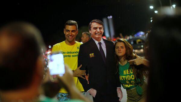Seguidores del presidente electo de Brasil, Jair Bolsonaro - Sputnik Mundo