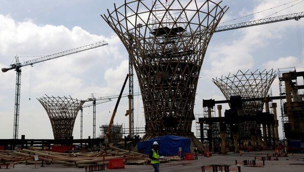 Las obras del Nuevo Aeropuerto Internacional de México (NAIM) - Sputnik Mundo