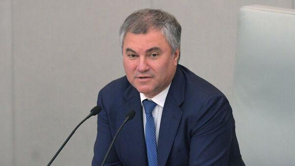 Viacheslav Volodin, presidente de la Duma de Estado de Rusia (archivo) - Sputnik Mundo