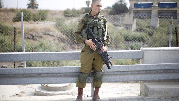Soldado israelí en la frontera con Jordania (archivo) - Sputnik Mundo