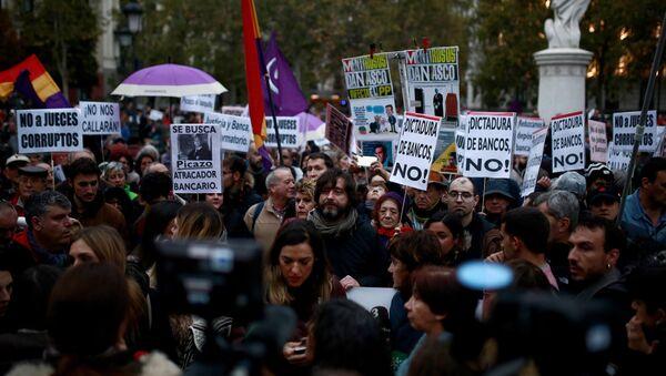 Protestas en España - Sputnik Mundo