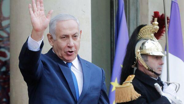 Benjamín Netanyahu, primer ministro de Israel, en París - Sputnik Mundo