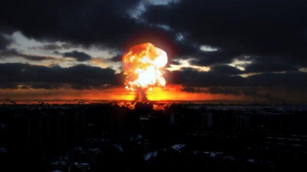 Una explosión en una ciudad, imagen referencial - Sputnik Mundo