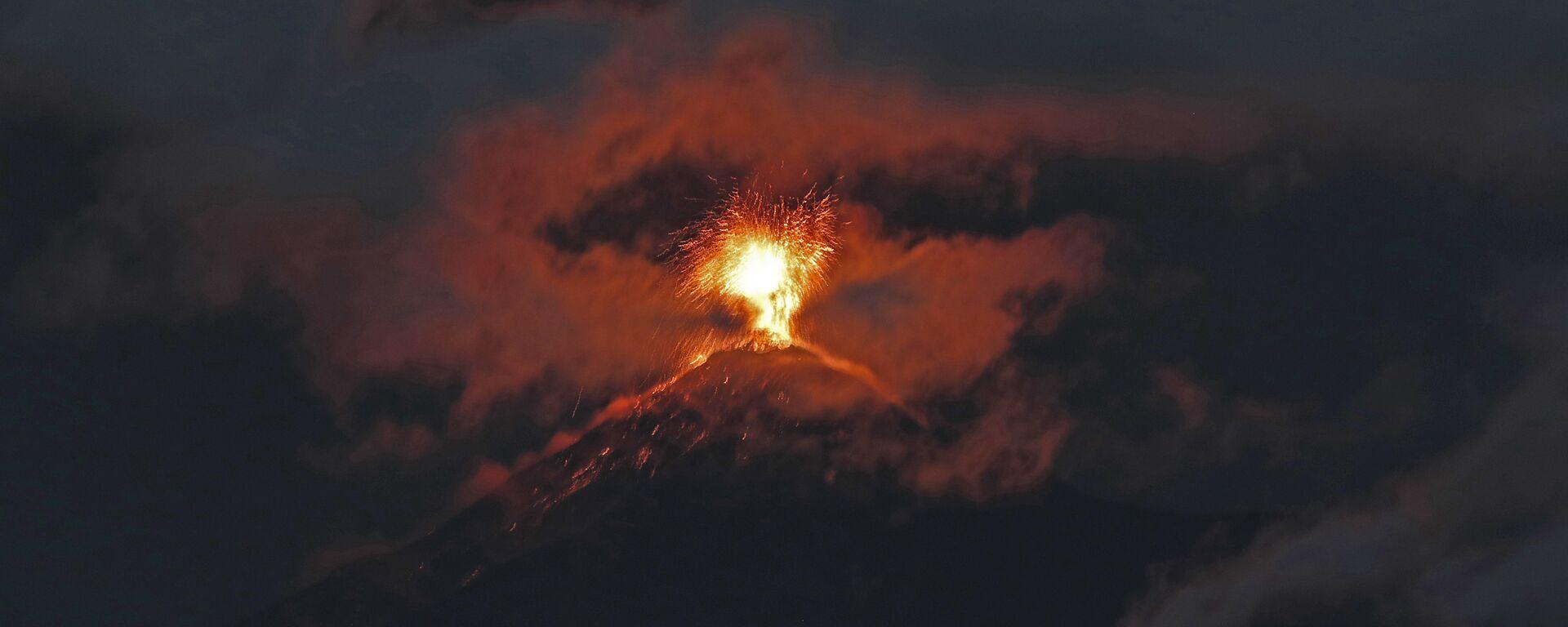 Erupción del volcán de Fuego en Guatemala (archivo) - Sputnik Mundo, 1920, 23.09.2021