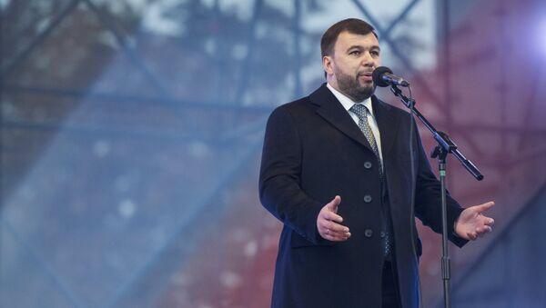 Denís Pushilin, líder electo de la autoproclamada República Popular de Donetsk (RPD) - Sputnik Mundo