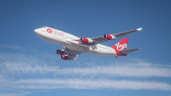 Un Boeing 747 de Virgin Orbit, foto archivo - Sputnik Mundo